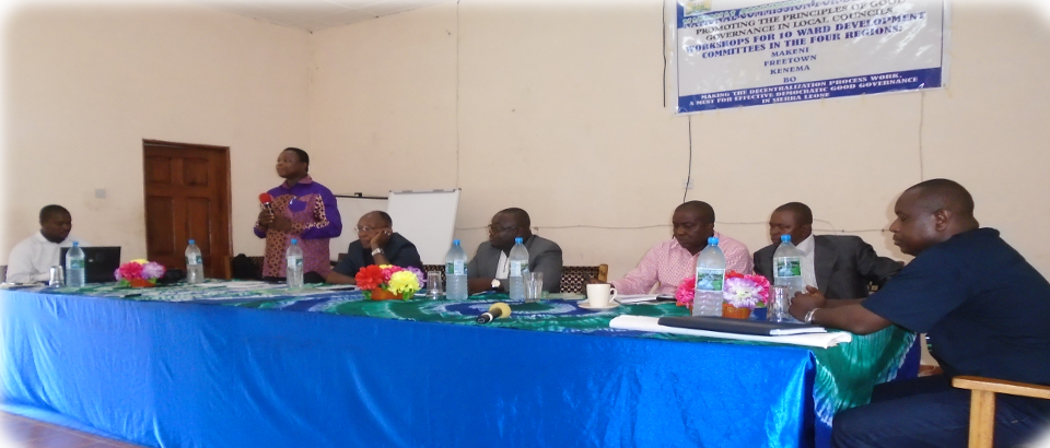 Workshop for the Development of the Ward Committe in the four regions